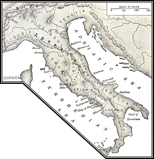 Outlines Of Roman History Chapter - Ancient rome map blank